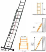 Suministros y Bricolaje 755018 - ESCALERA 2TR.EXT-C/C3340 2X14 4,08M