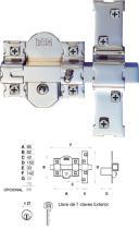 Suministros y Bricolaje 561170 - CERROJO 01193 201-R/80 UFG 50MM PIN