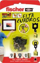 Suministros y Bricolaje 286492 - FIJA CUADROS BLANCO 522206 BLISTER